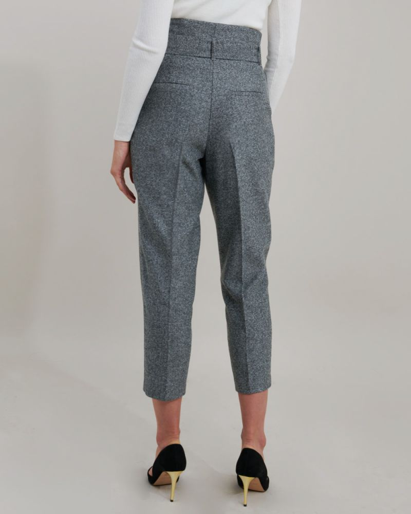 Ash Belted Herringbone Trousers