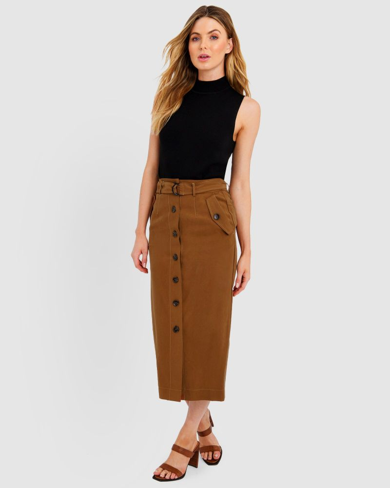 Ashley Button Up Skirt
