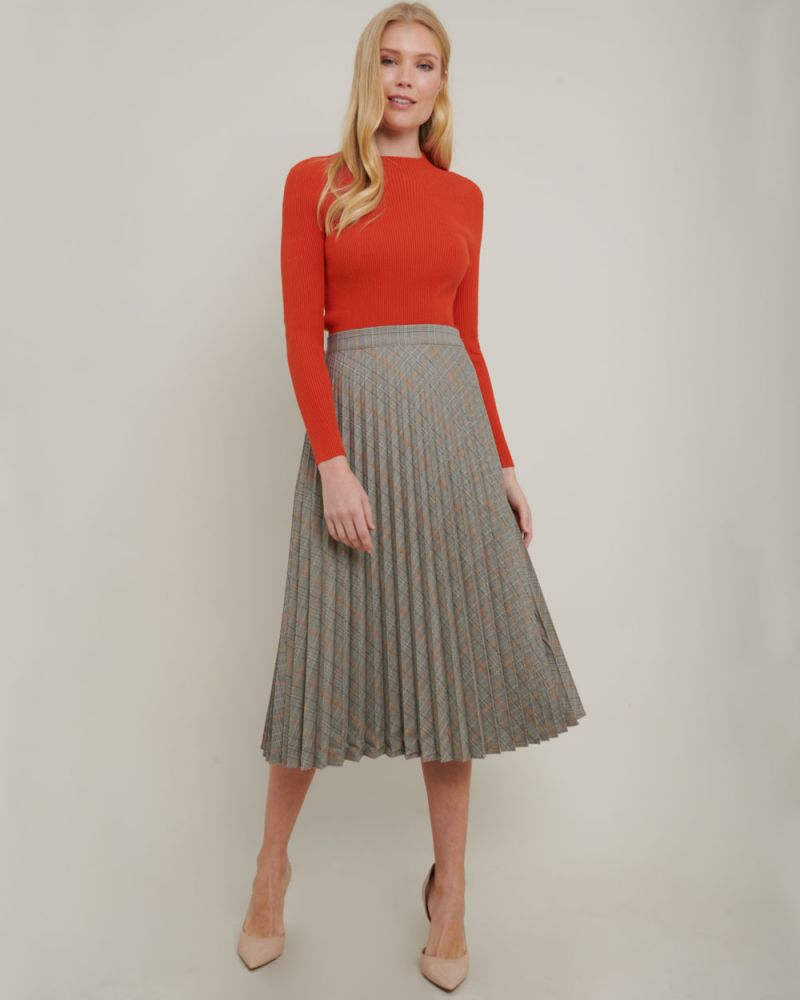 Persia Pleated Check Skirt