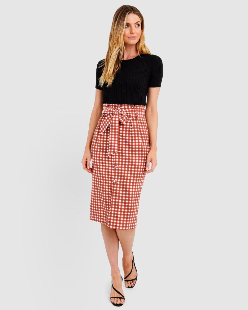 Whitney Check Skirt