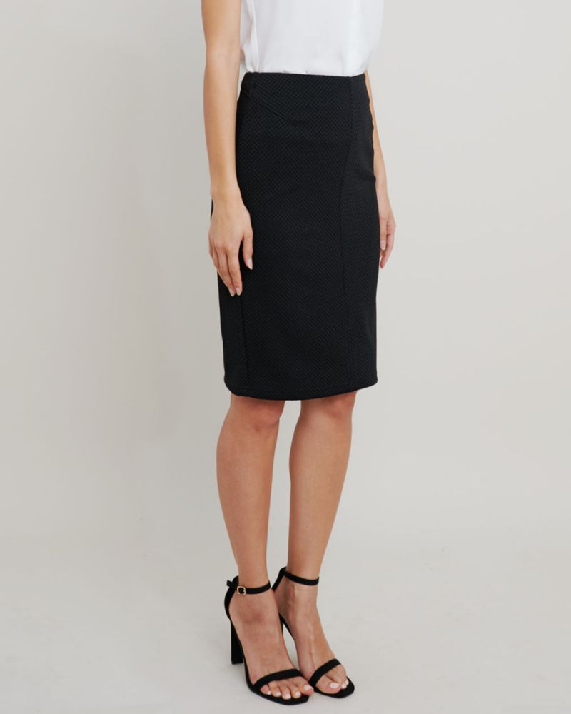 Joslyn Textured Pencil Skirt