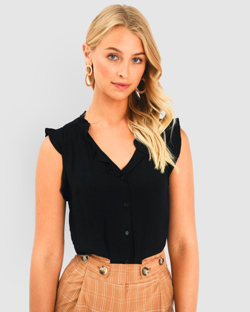 Ainsley Frill Neck Top