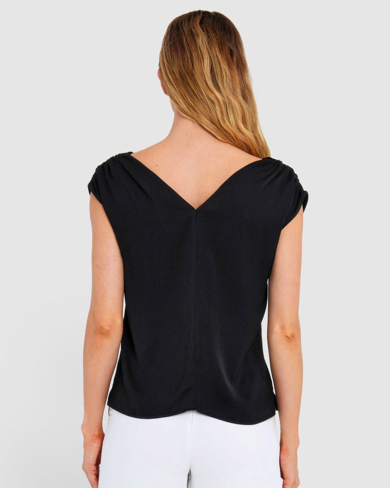 Trinity Ruched Shoulder Top