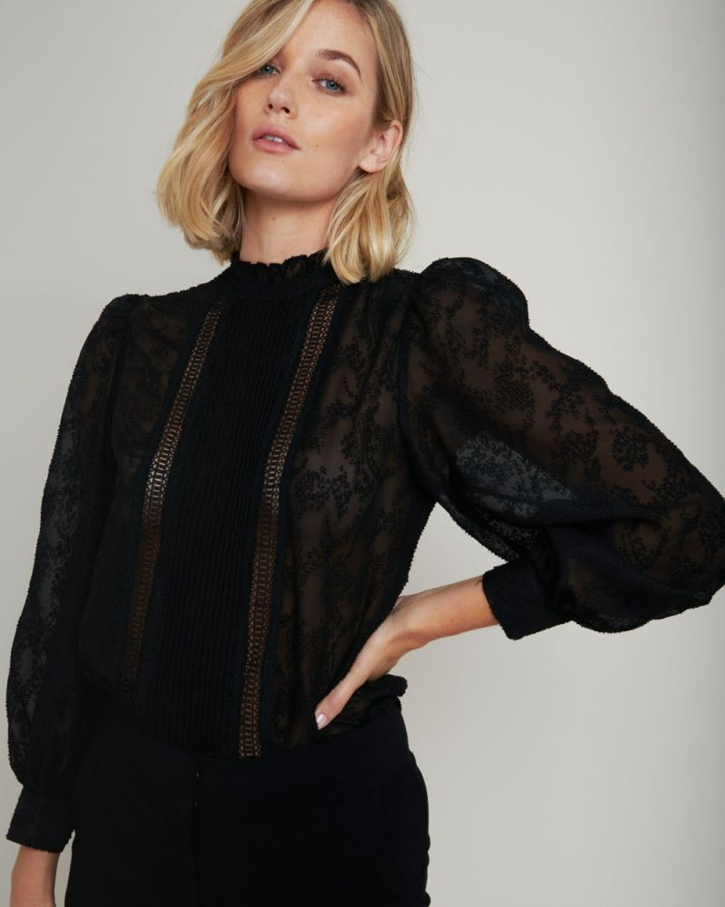 Sadie Long Sleeve Lace Blouse