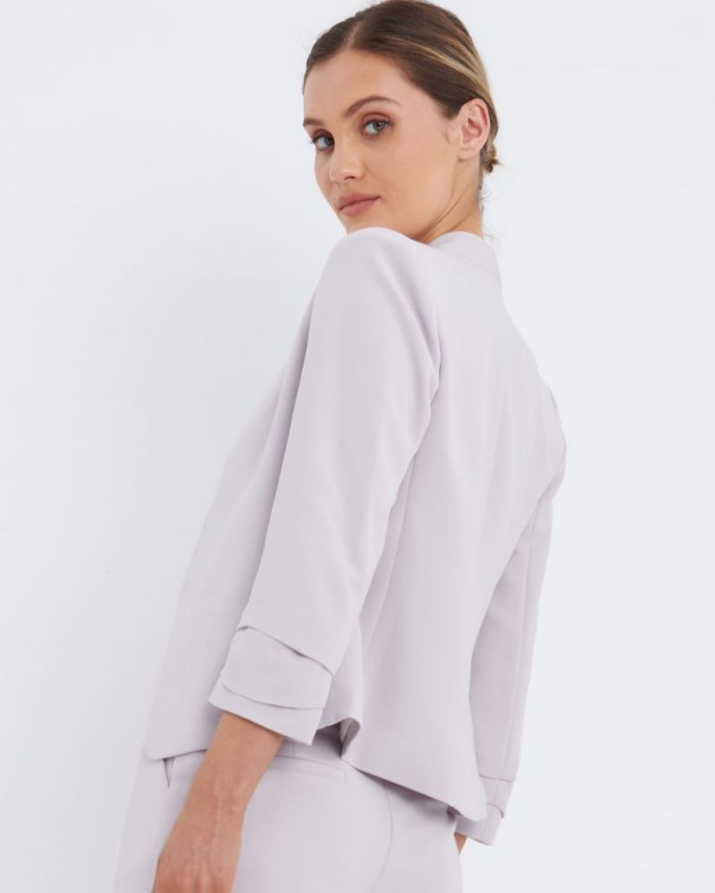 Lexi Ruched Sleeve Blazer