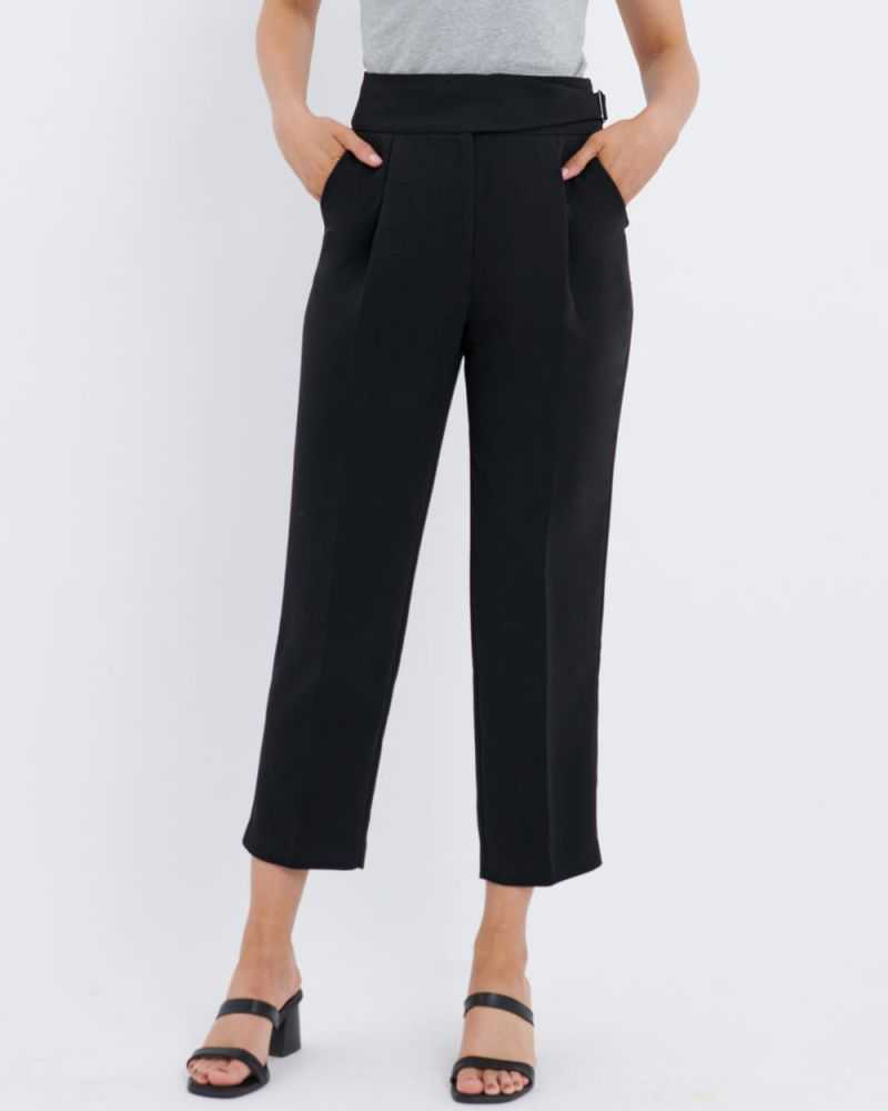 Lexi Side Buckle Tapered Pants