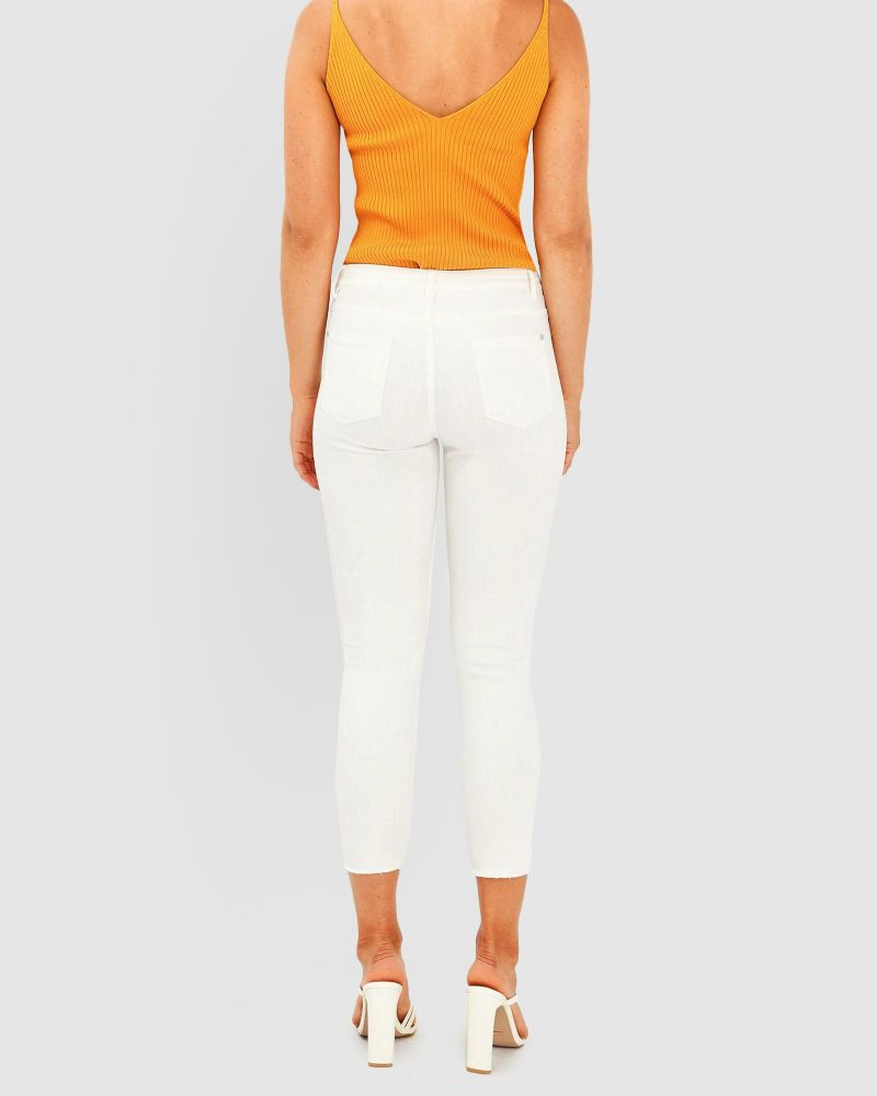 Astrid Mid Rise Crop Jeans