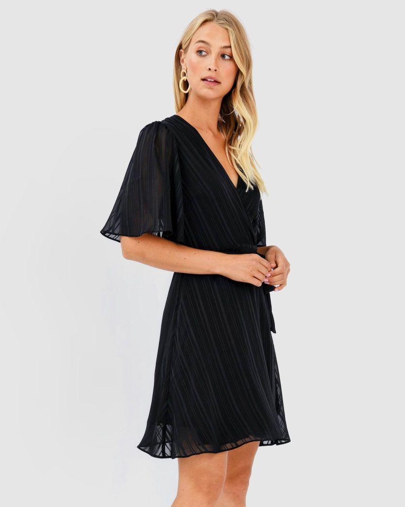 Carmen Stripe Wrap Dress