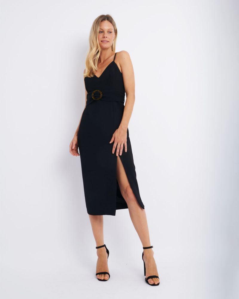 Kiara Belted Midi Dress
