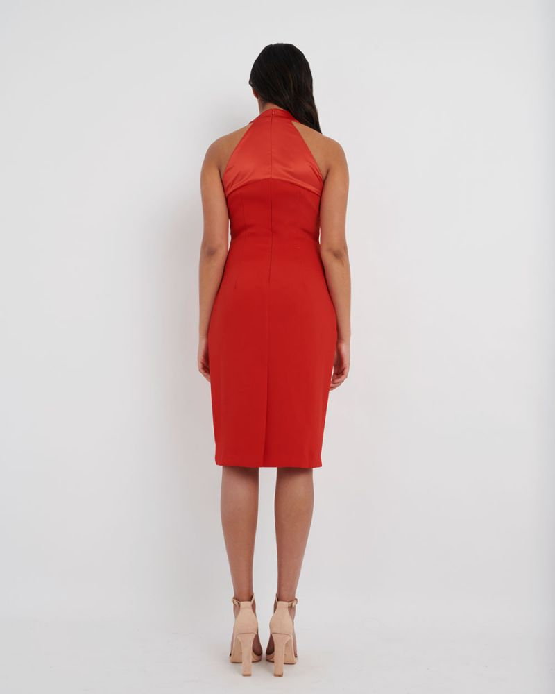 Greta Twist Halter Bodycon Dress