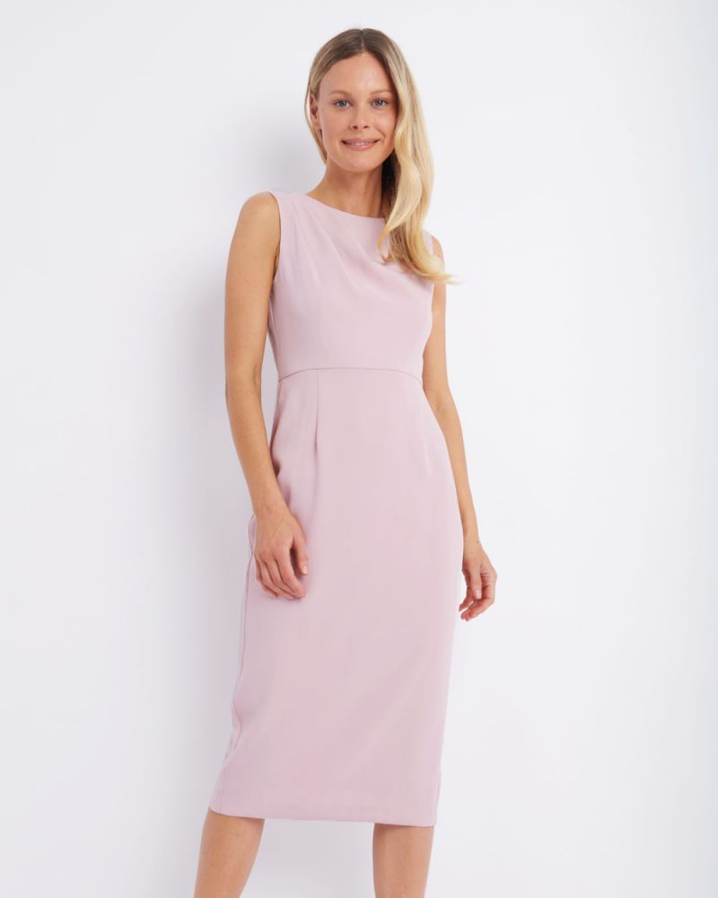 Holly Ruched Shoulder Midi Dress
