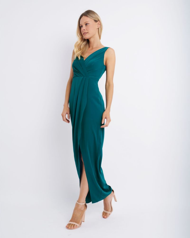 Naya V-Neck Tulip Midi Dress