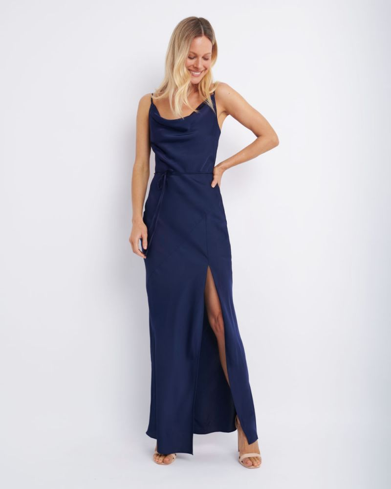 Racquel Cowl Neck Maxi Dress