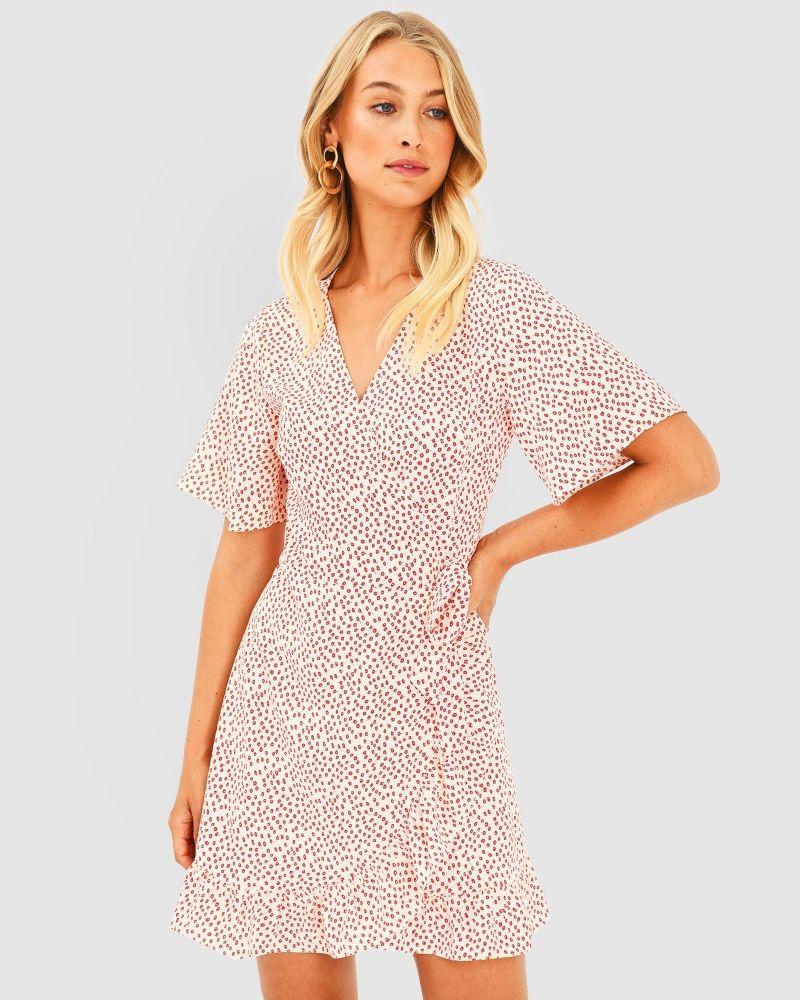 Maggie Floral Wrap Dress