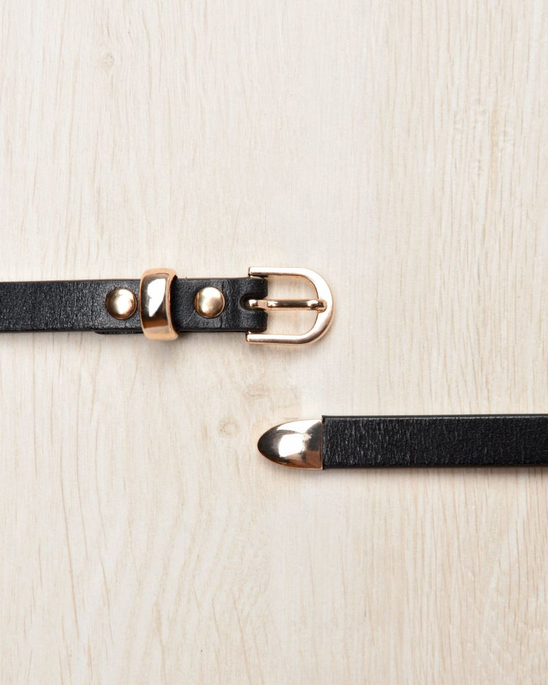 Taya Slim Leather Belt